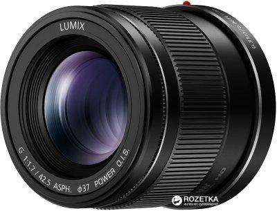 Panasonic Micro 4/3 Lens 42.5mm F1.7 ASPH. Power O.I.S (H-HS043E-K)
