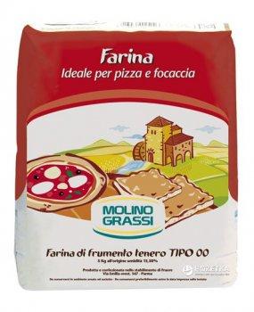 Мука из мягких сортов пшеницы Molino Grassi Pizza e Focaccia Tipo 00 1 кг (8013971006317)