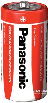 Батарейки Panasonic Red Zink угольно-цинковые C (R14) блистер, 2 шт (R14REL/2BPR)
