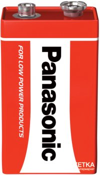 Батарейка Panasonic Red Zink угольно-цинковая 6F22 ( 6LR61, MN1604, MX1604) блистер, 1 шт (6F22REL/1BP)