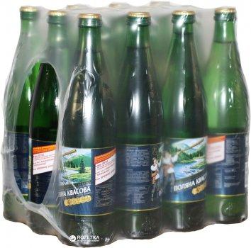Упаковка минеральной газированной воды Поляна Квасова 0.5 л х 12 бутылок (4820001830033)