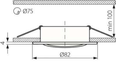 Світильник точковий Kanlux CTC-5515-W Vidi (2780)