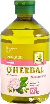 Гель для душа O'Herbal Тонизирующий с экстрактом дамасской розы 500 мл (5901845500043)