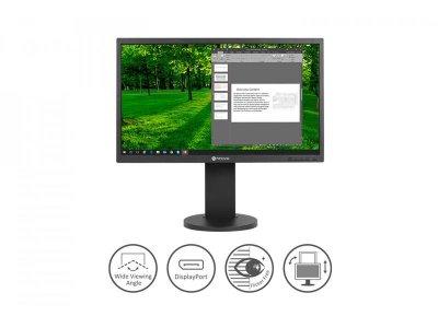 """Монітор Neovo 23.8"""" LH-24 IPS Black; 1920x1080, 5 мс, 270 кд/м2, D-Sub, HDMI, DisplayPort, динаміки 2х2 Вт"""
