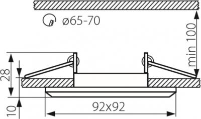 Світильник точковий Kanlux Morta CT-DSL50-B (18510)