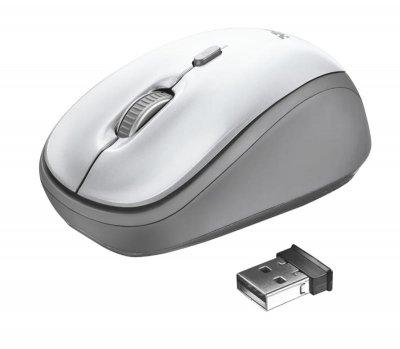 Миша бездротова Trust Yvi (23386) White-Silver USB