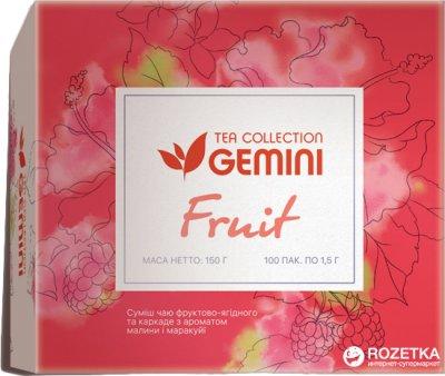 Чай фруктовый пакетированный Gemini Tea Collection Fruit 1.5 г х 100 пакетиков (4820156430324)