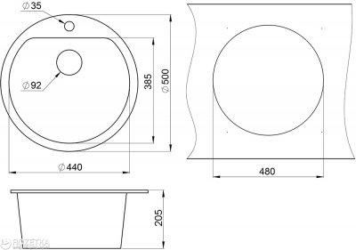 Кухонна мийка Minola MRG 1045-50 Еспресо