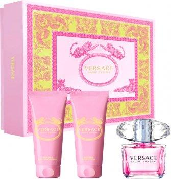 Набор для женщин Versace Bright Crystal туалетная вода 50 мл + лосьон для тела 50 мл + гель для душа 50 мл (8011003850297/8011003843626)