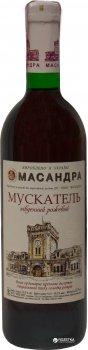 Вино Масандра Мускатель Південний рожеве десертне 0.75 л 16% (4820013375447)