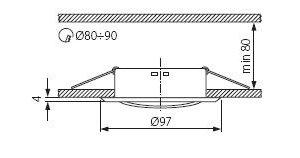 Світильник точковий Kanlux CT-2115-G Argus (KA-304)