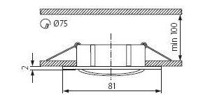 Світильник точковий Kanlux CTX-DT10-C Navi (KA-2551)