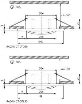 Світильник точковий Kanlux Radan CT-DTL50 (KA-7361)