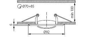 Світильник точковий Kanlux CTC-3115-SN/G Horn (KA-2830)