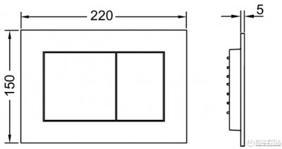 Панель смыва TECE TECEnow Black 9240403 глянец