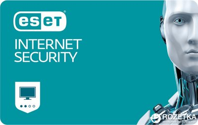 Антивірус ESET Internet Security (2 ПК) ліцензія на 1 рік Базова