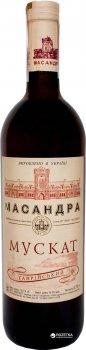Вино Масандра Мускат Таврійський біле десертне 0.75 л 16% (4820013375621)