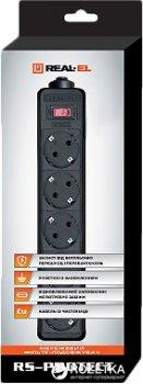 Мережевий фільтр-подовжувач Real-El RS-Protect 3 м Black