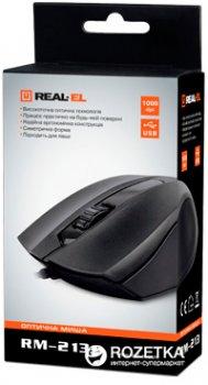 Мышь Real-El RM-213 USB Black