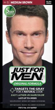 Краска для волос мужчин JUST FOR MEN (H35) - Средний коричневый 66 мл.