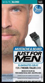 Краска для бороды и усов JUST FOR MEN (м10/15) - Блондин /Тёмный Блондин 28 мл.