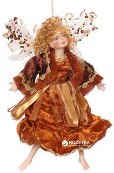 Ялинкова іграшка Scorpio Лялька-фея 23 см Коричнева (570968)(4824028003371)