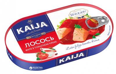 Лосось филе в томатном креме Kaija 170 г (4751007732833)