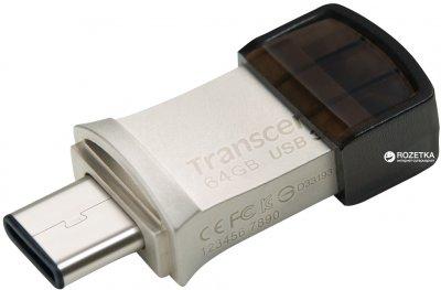 Transcend JetFlash 890 64GB USB 3.1 / Type-C Silver (TS64GJF890S)