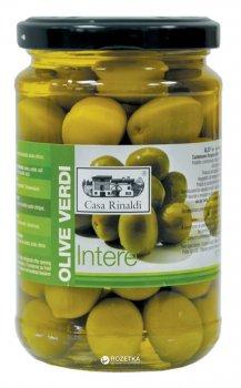 Оливки зеленые с косточкой Casa Rinaldi 310 г (8006165388849)