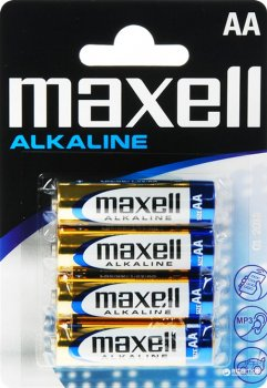 Батарейка щелочная Maxell Alkaline AA (LR06) blister 4 шт (4902580163761)