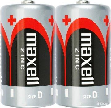 Батарейка солевая Maxell Zink D (R20) shrink 2 шт (4902580151171)