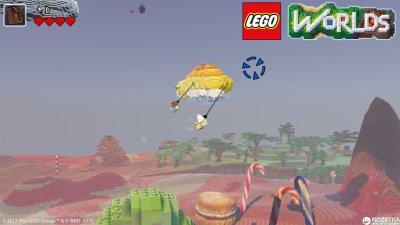 Игра LEGO Worlds для PS4 (Blu-ray диск, Russian version)