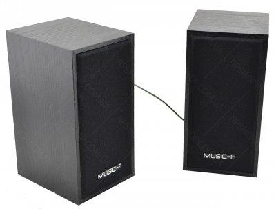Комп'ютерні дерев'яні колонки акустика Music-F AG D09 (чорні)