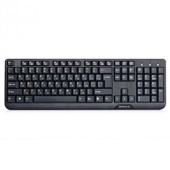 Дротова клавіатура Real-El Standard 500 PS/2 black Б/У