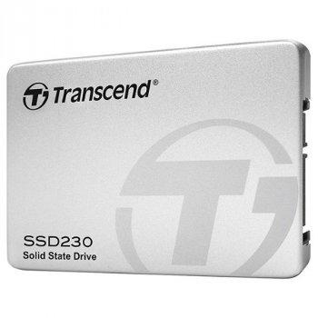 """Твердотільний диск 2.5"""" 256GB Transcend 230S SATA 3, 3D NAND, Read/Write 530/400 MB/sec, 7mm (TS256GSSD230S)"""
