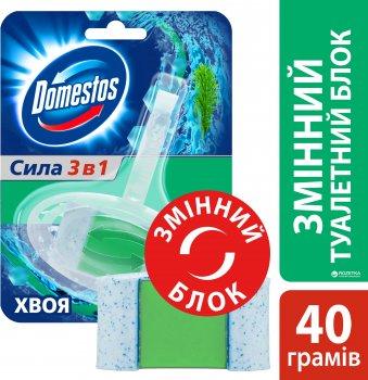 Змінний туалетний блок для унітаза Domestos Хвоя 40 г (8717163349977)
