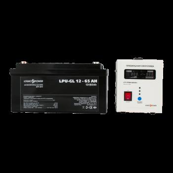 Комплекти для резервного живлення ДБЖ LPY-PSW-800VA+ з акумулятором гель 65 Ач