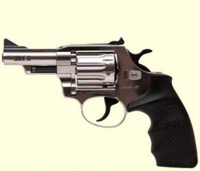 Револьвер флобера Alfa mod. 431 4 мм нікель/пластик