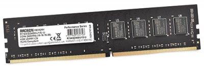 Пам'ять DDR4 RAM 4GB AMD 2400MHz PC4-19200 R7 Performance Series (R744G2400U1S-U)