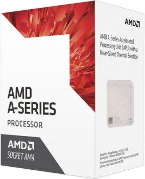 Процесор CPU AMD Bristol Ridge A6 2C/2T 9400 (3.5GHz-3.7GHz(Turbo),1MB,65W,AM4) box, Radeon R5 Series (AD9400AGABBOX)