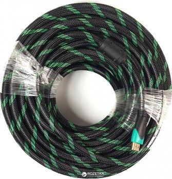 Відeo кабель PowerPlant HDMI - HDMI 25 м позолочені коннектори 2.0 Double ferrites Highspeed (KD00AS1296)