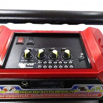 Колонка NNS NS-1388 в виде чемодана с микрофоном USB SD АККУ 12V