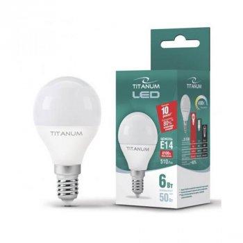 Світлодіодна лампа Videx Titanum TL-G45-06144 (E14/6W/220V/4100K)
