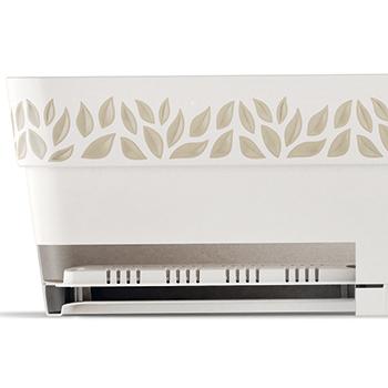 Вазон прямокутний Stefanplast Opera Cloe 18 х 50 х 17 см Білий/травертин (94400)