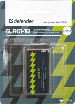 Батарейка Defender Alkaline 6LR61-1B Крона 1 шт (56042)