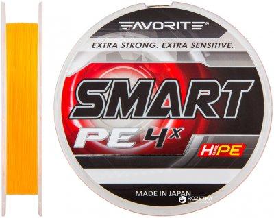 Шнур Favorite Smart PE 4x 150 м # 0.5/0.117 мм 3.6 кг Оранжевый (16931040)