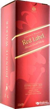 Виски Johnnie Walker Red Label выдержка 4 года 3 л 40% в подарочной упаковке (5000267129785)