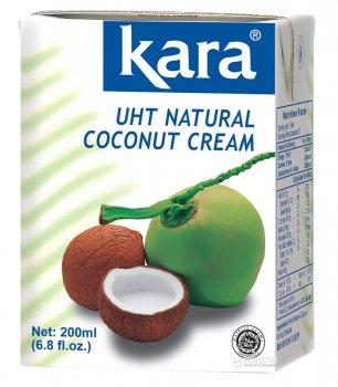 Кокосовые сливки Kara натуральные пастеризованные 200 мл (8886303210207)