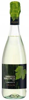 Вино ігристе Le Foglie Lambrusco Bianco dell'Emilia Amabile біле напівсолодке 0.75 л 8% (8001929315840)