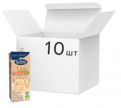 Упаковка овсяного молока Riso Scotti органического с кальцием 1 л х 10 шт (8001860255120)